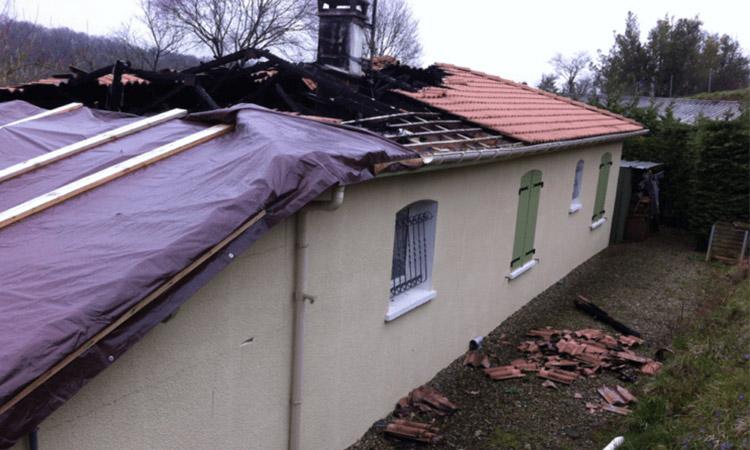 Coren effectue les travaux suite à un incendie dans les Landes (40)